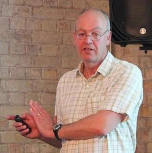 Graham Armfield presenting