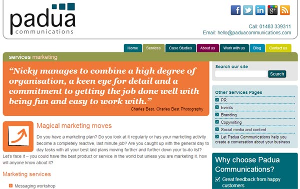 The Padua Communications Website