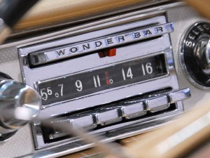 Old style car radio with preset buttons
