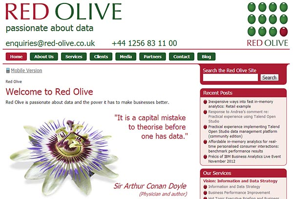 Red Olive Home Page