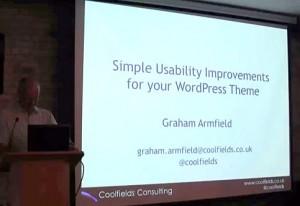 Me presenting at WordPress London