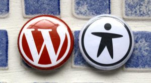 WordPress and accessibility badges